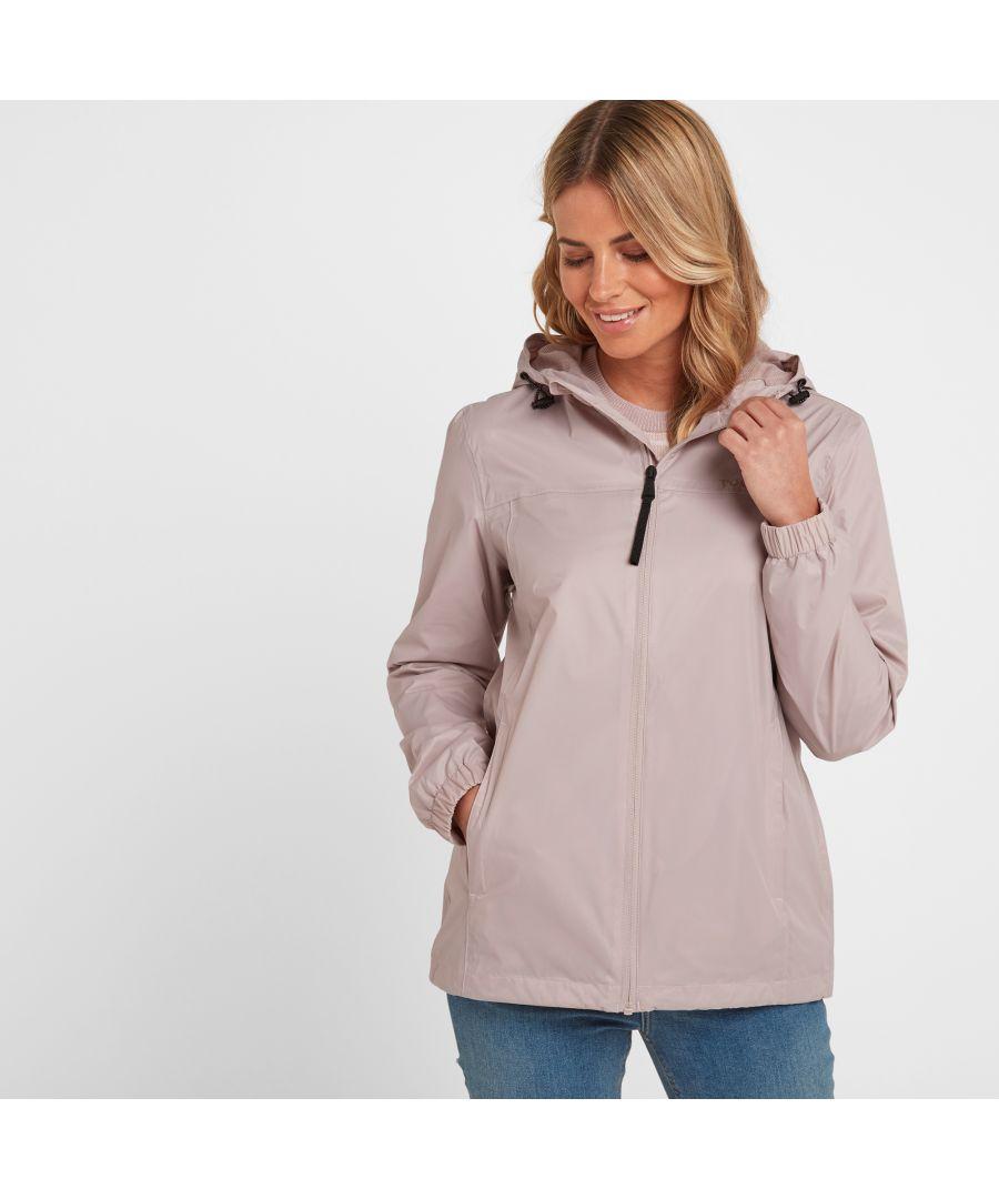 Image for Craven Womens Waterproof Packaway Jacket Chalk Pink