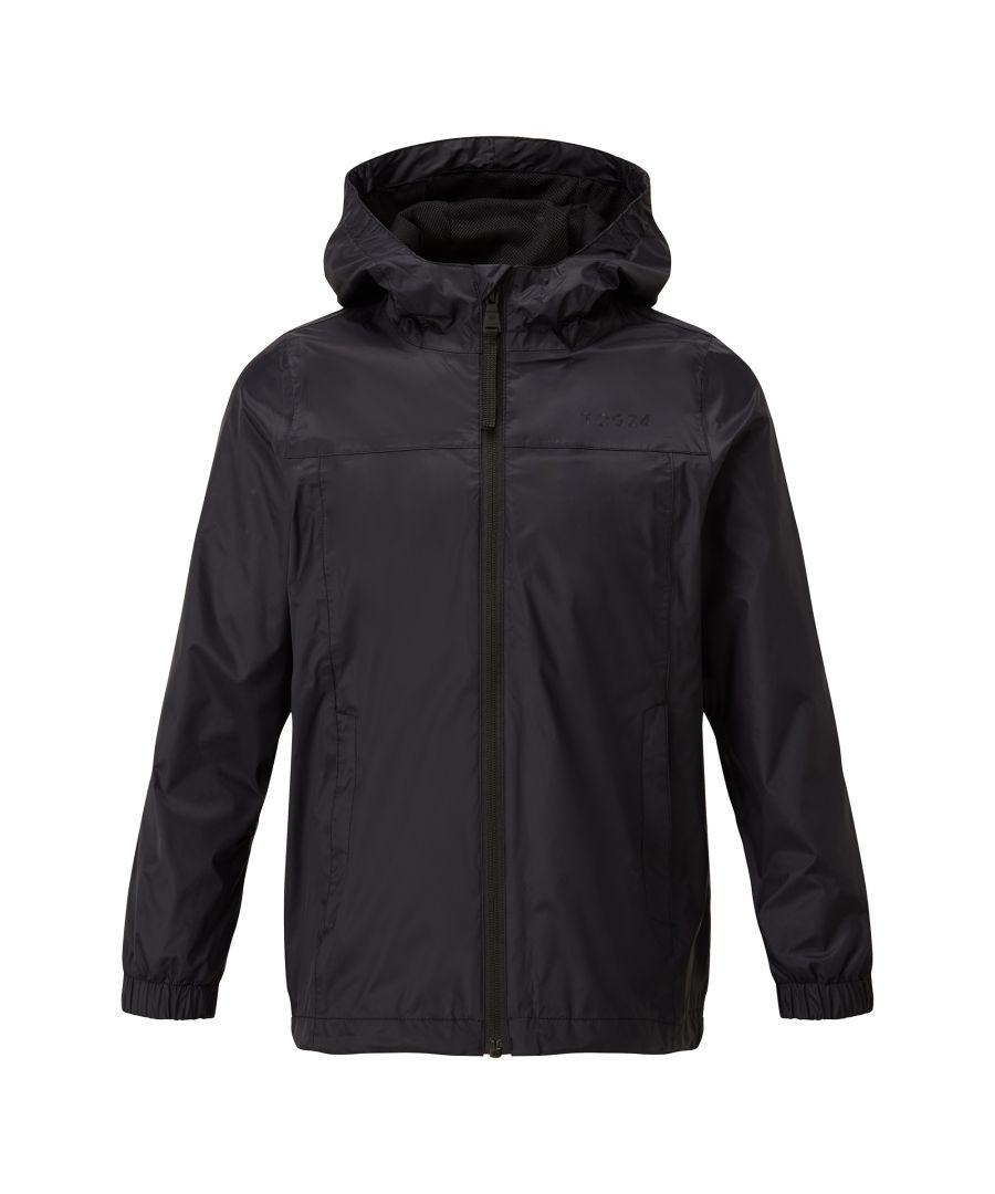 Image for Craven Kids Waterproof Packaway Jacket Black