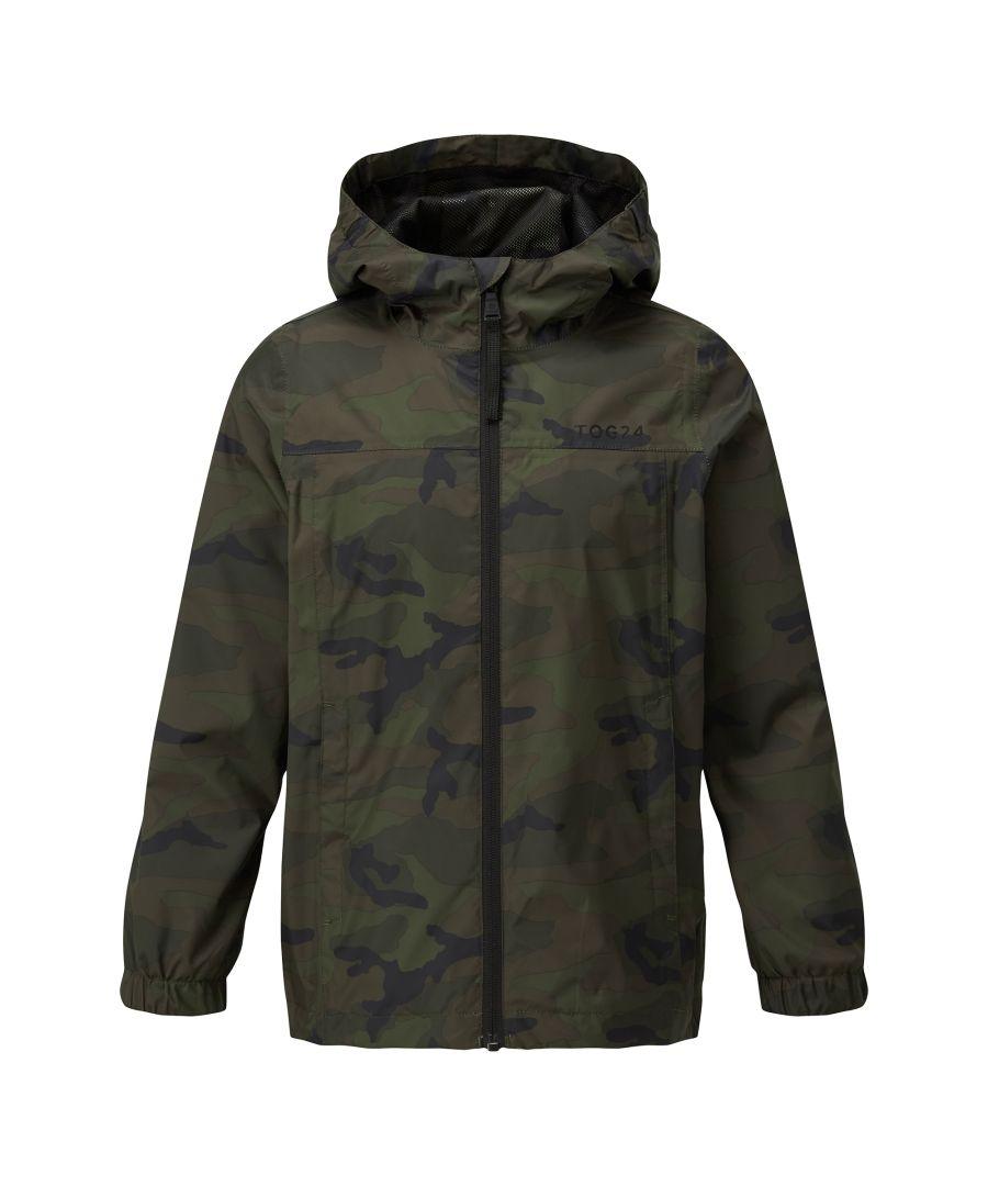 Image for Craven Kids Waterproof Packaway Jacket Khaki Classic Camo