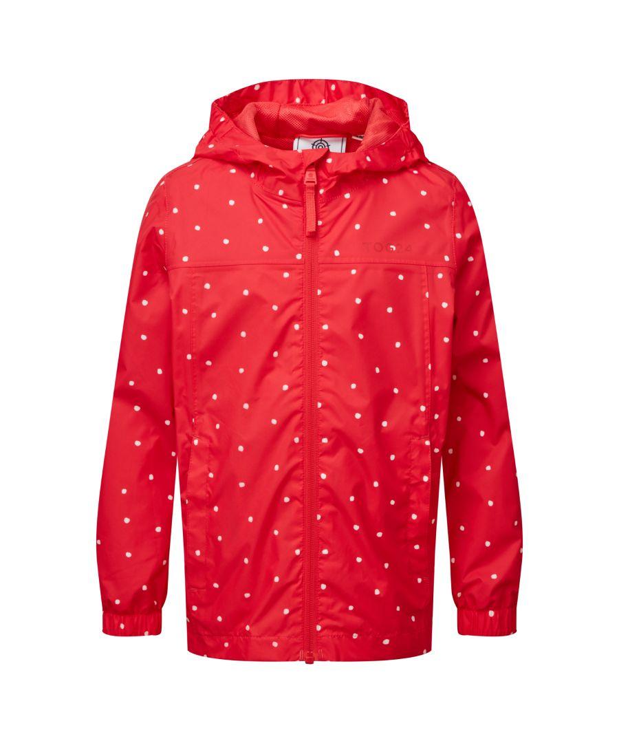 Image for Craven Kids Waterproof Packaway Jacket Pink Coral Spot