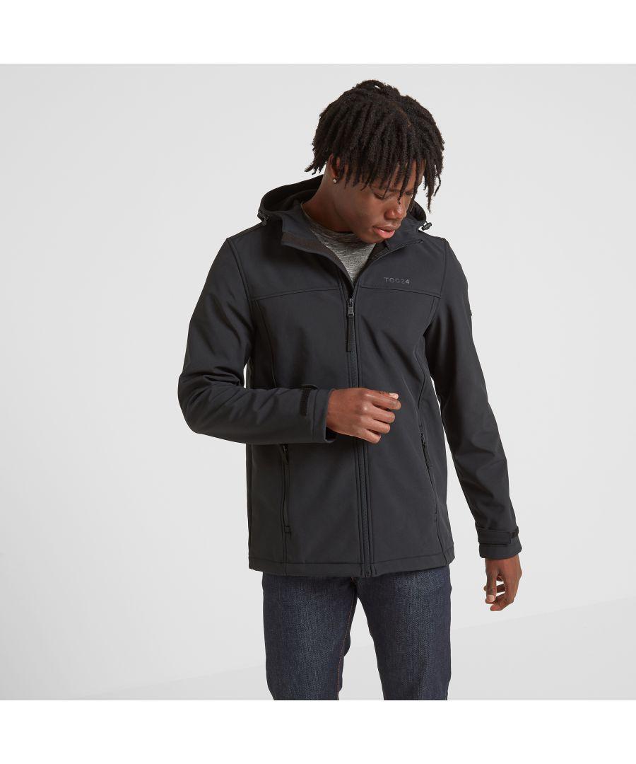 Image for Feizor Mens Softshell Hooded Jacket Black