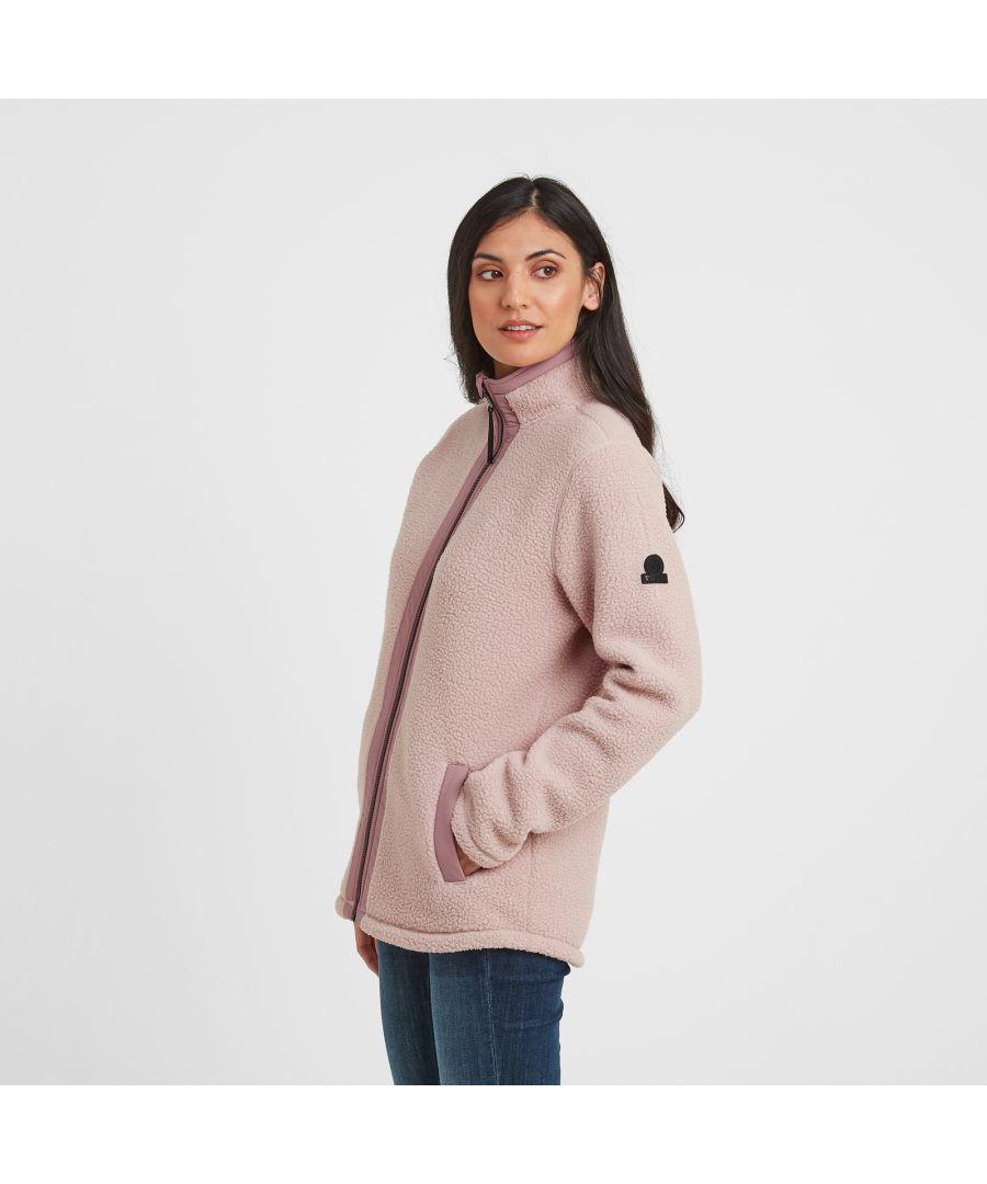 Image for Flores Womens Sherpa Fleece Zipneck Rose Pink