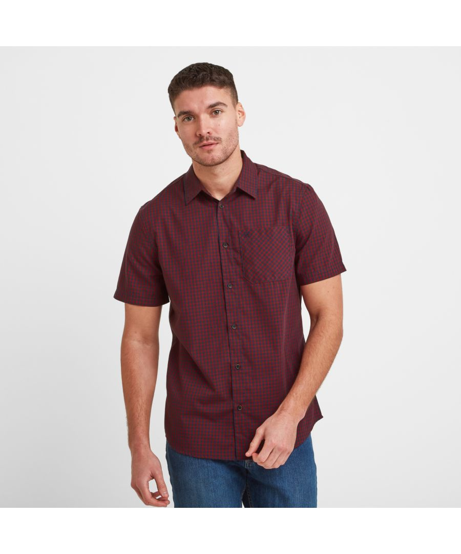 Image for Foster Mens Check Shirt Rio Red