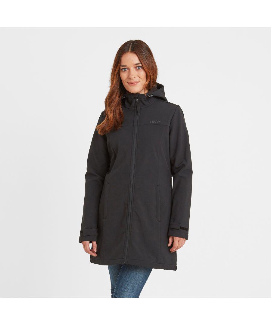Image for Keld Womens Softshell Long Jacket Black