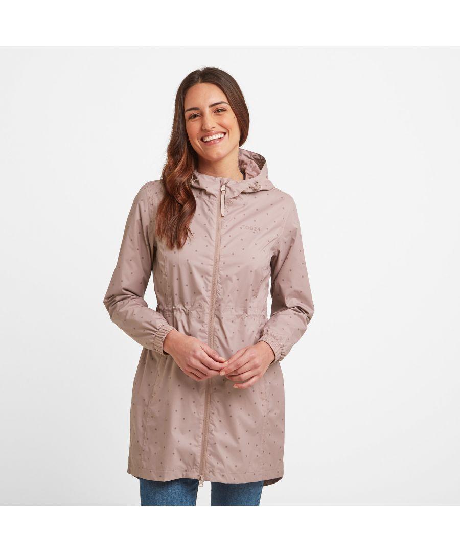 Image for Kilnsey Womens Waterproof Jacket Spot Faded Pink