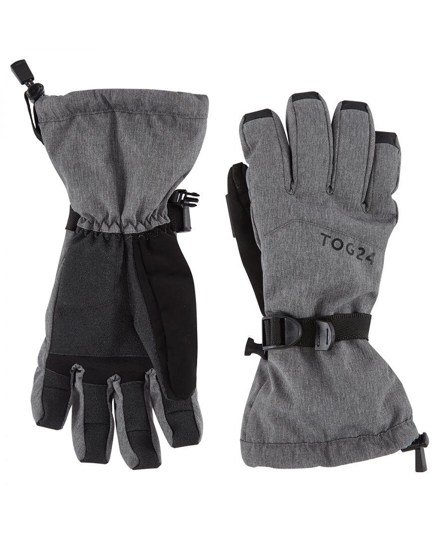 Image for Lockton Waterproof Ski Gloves Dark Grey Marl
