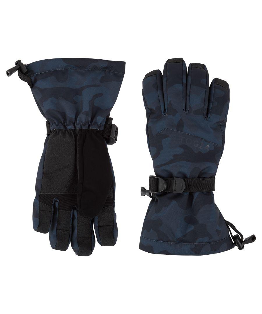 Image for Lockton Waterproof Ski Gloves Navy Camo