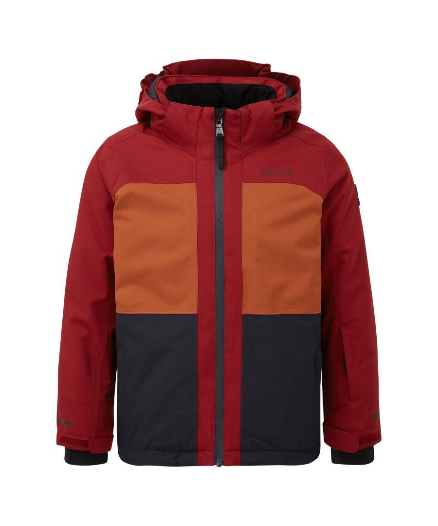 Image for Medlock Kids Waterproof Insulated Ski Jacket Rumba/Navy/Pumpkin