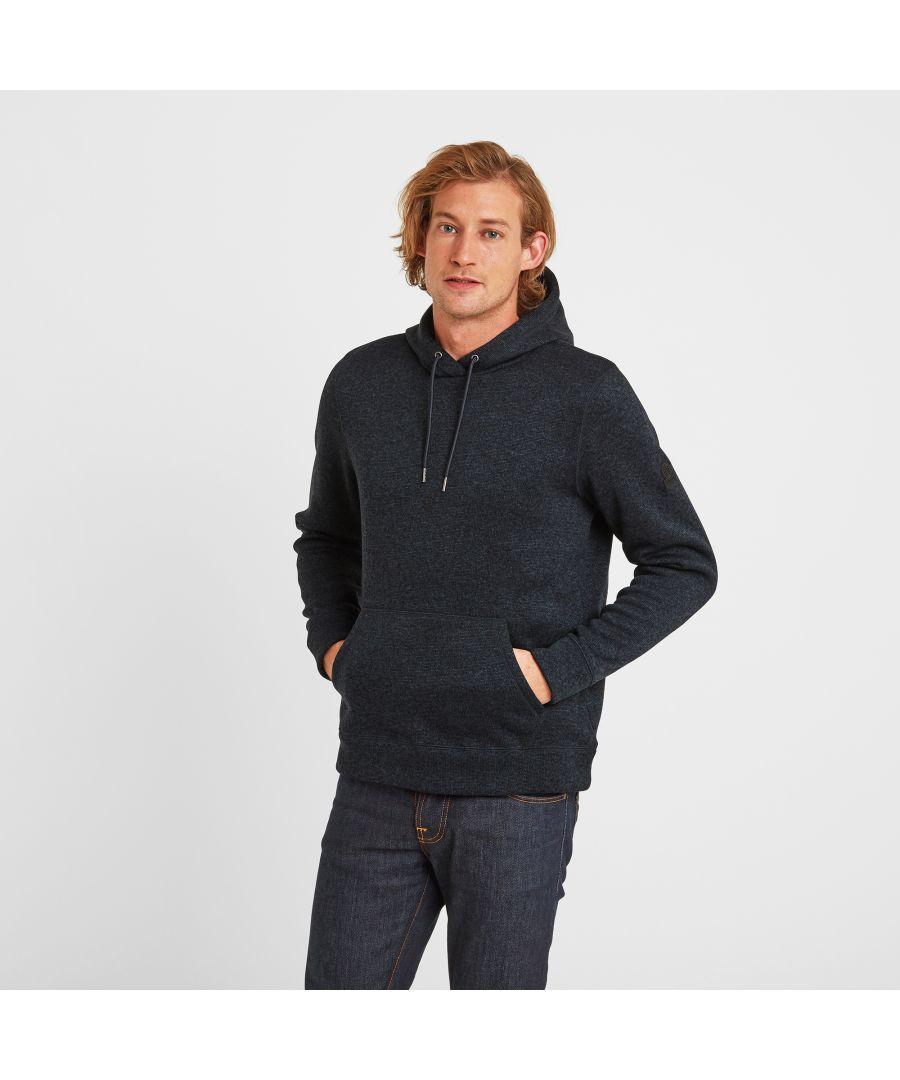 Image for Mosby Mens Knitlook Fleece Hoody Dark Indigo