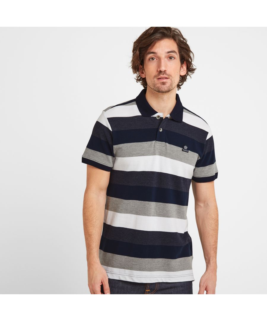 Image for Palin Mens Polo Navy Stripe