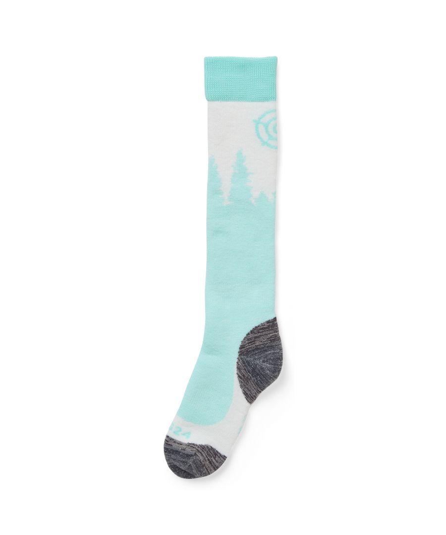 Image for Pine Merino Ski Socks Mint Blue