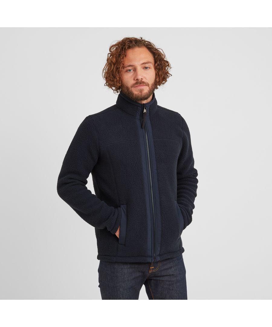 Image for Pyrah Mens Sherpa Fleece Jacket Dark Indigo