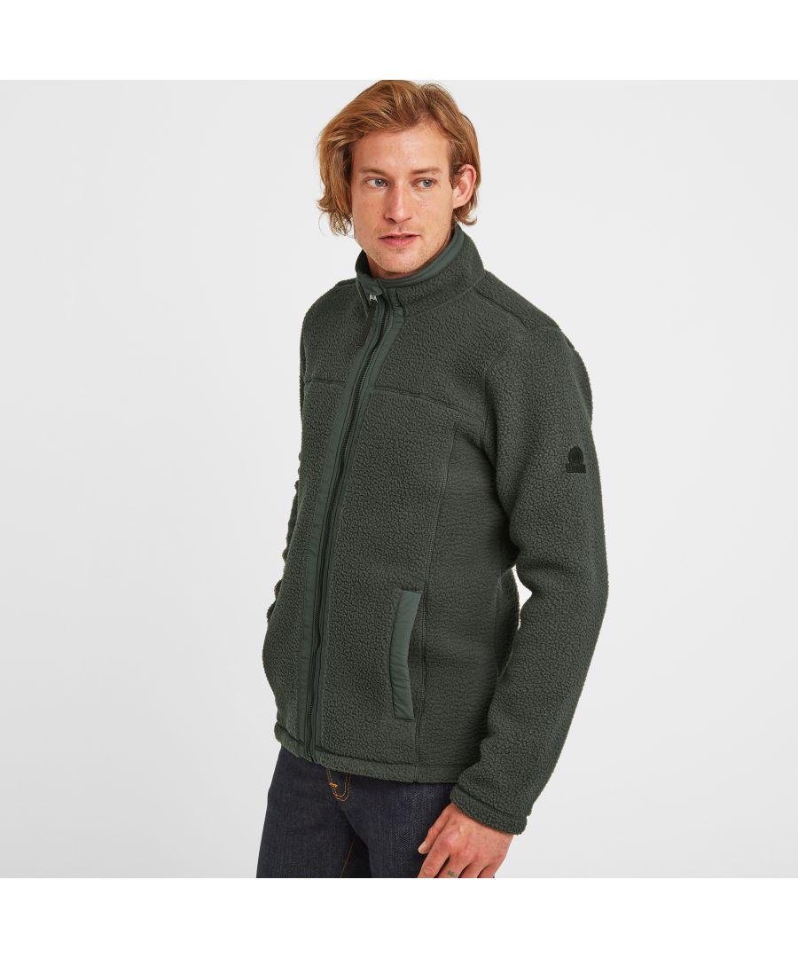 Image for Pyrah Mens Sherpa Fleece Jacket Pine Green