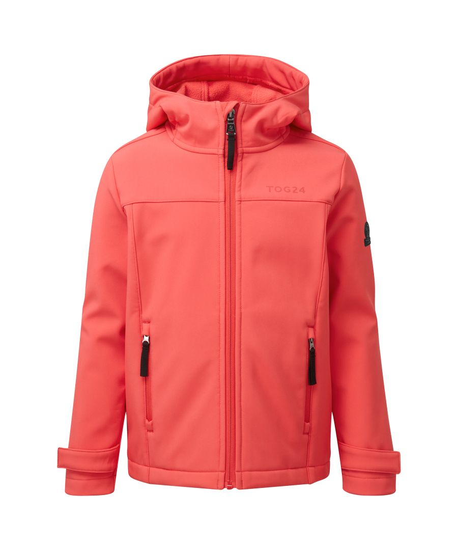 Image for Raven Kids Softshell Hoody Coral Pink
