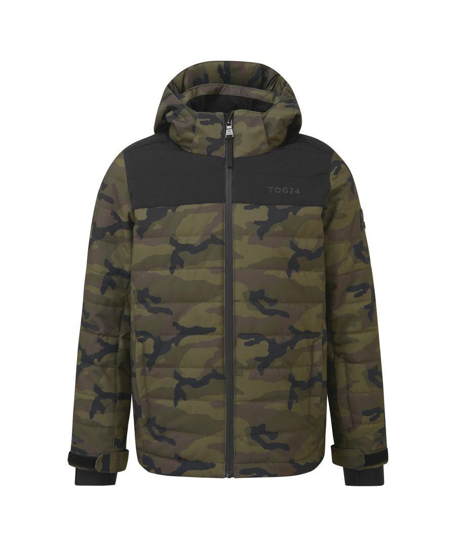 Image for Savick Kids Waterproof Insulated Ski Jacket Camo/Black