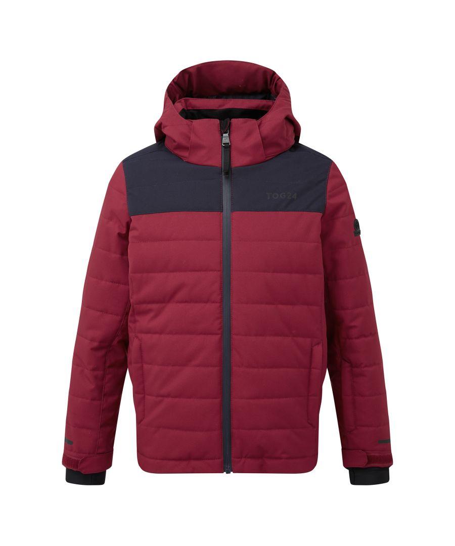 Image for Savick Kids Waterproof Insulated Ski Jacket Rumba Red/Navy