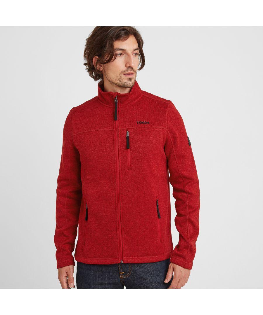 Image for Sedman Mens Knitlook Fleece Jacket Chilli Red