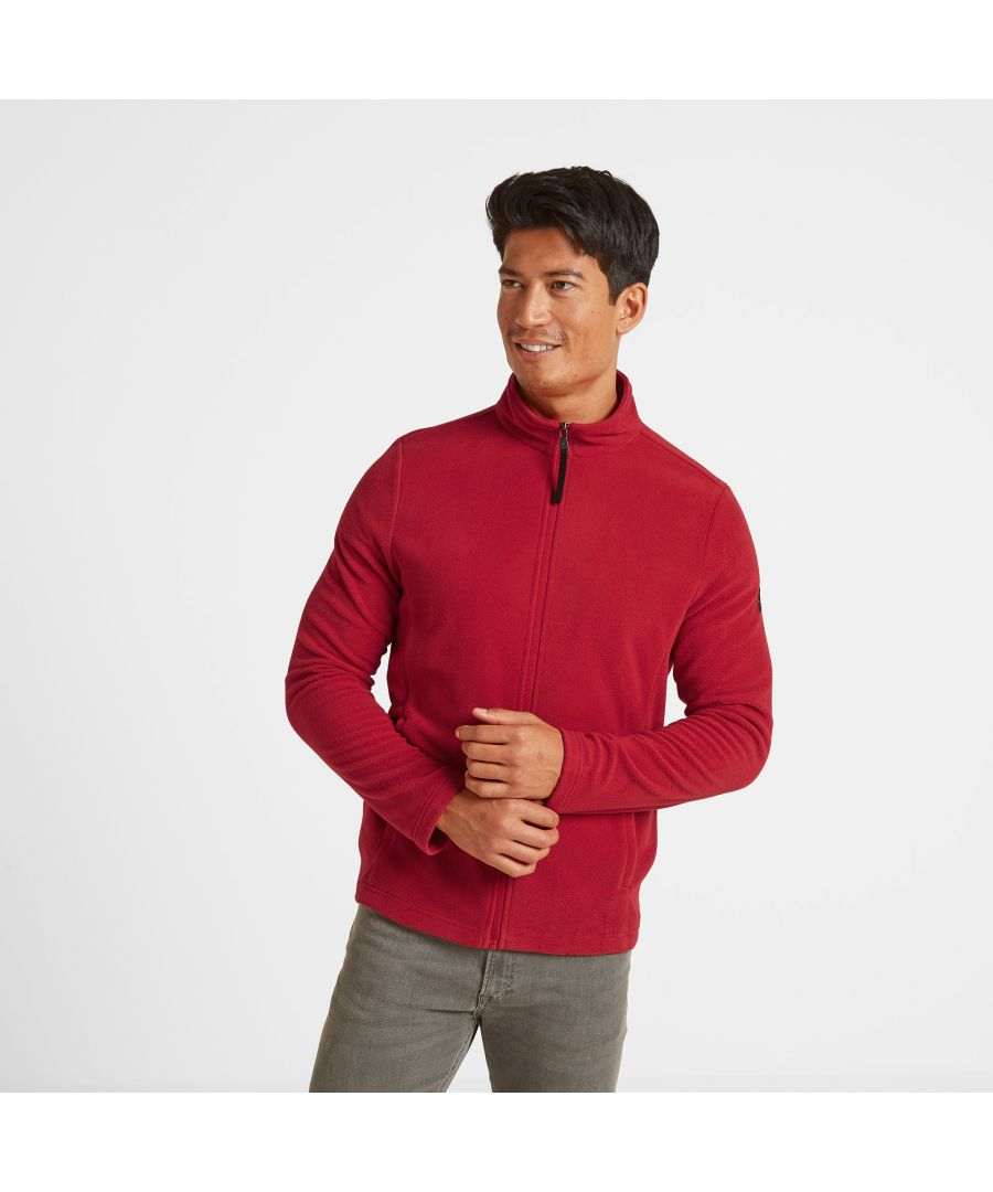 Image for Shire Mens Fleece Jacket Chilli Red
