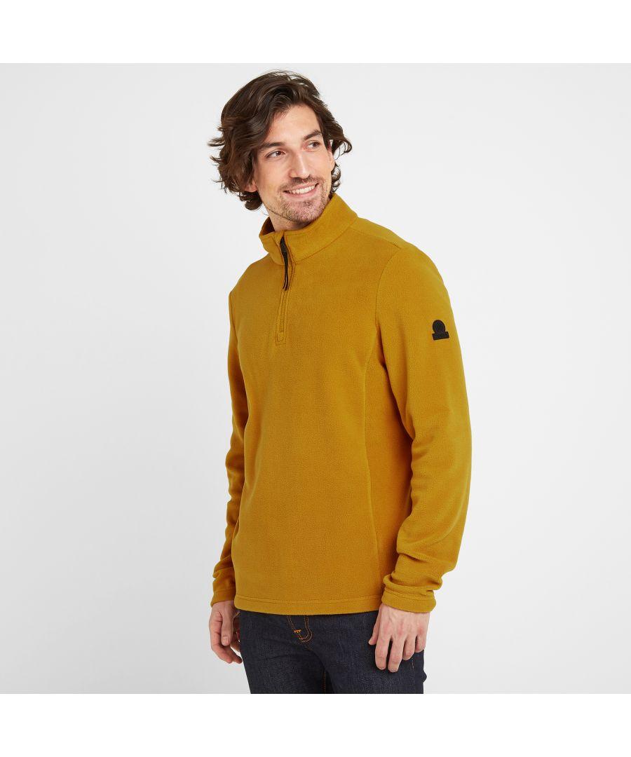 Image for Shire Mens Fleece Zipneck Mustard