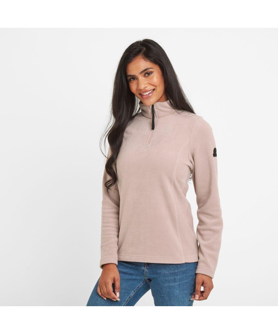 Image for Shire Womens Fleece Zipneck Dusky Pink
