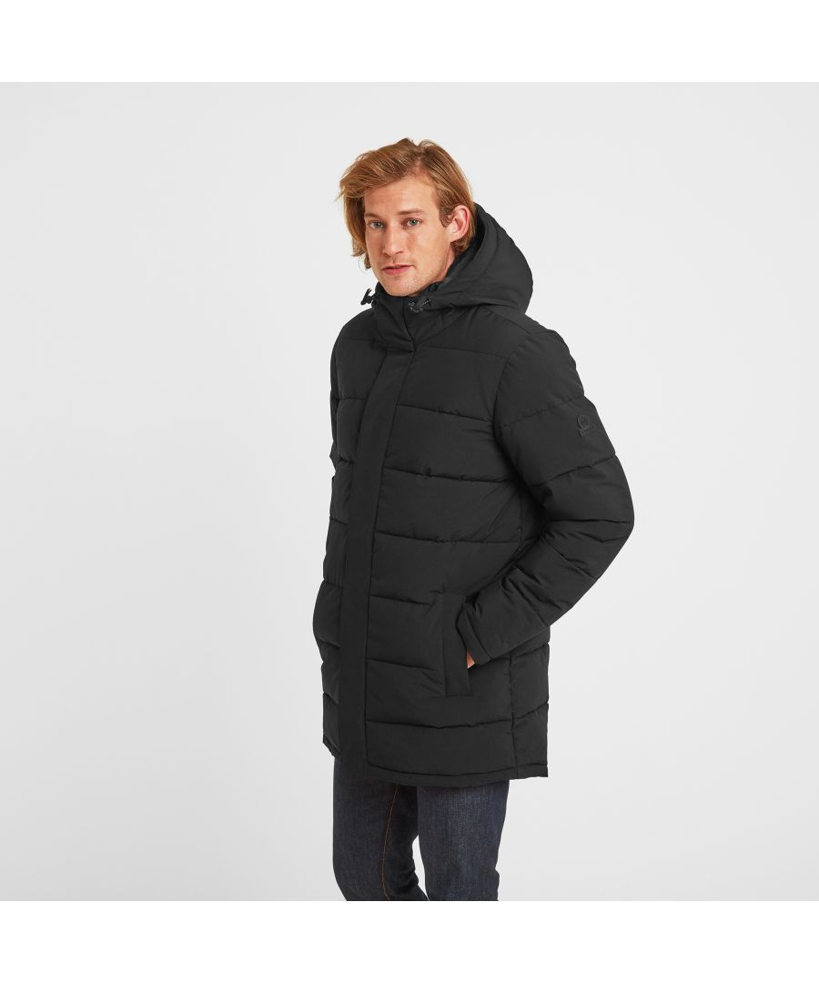 Image for Watson Mens Long Insulated Jacket Black