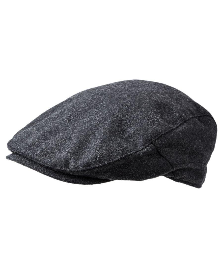 Image for Weighton Knit Flat Cap Dark Grey Marl
