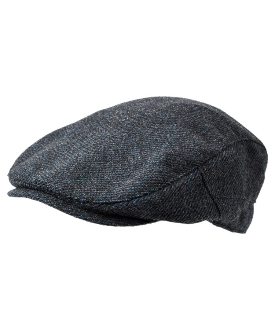 Image for Weighton Knit Flat Cap Blue Marl