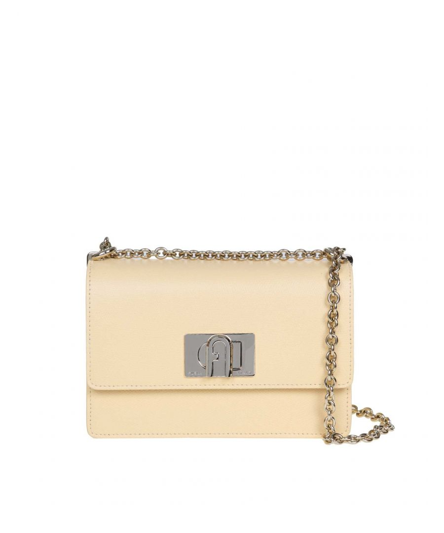 Image for FURLA WOMEN'S 1056935 YELLOW LEATHER SHOULDER BAG