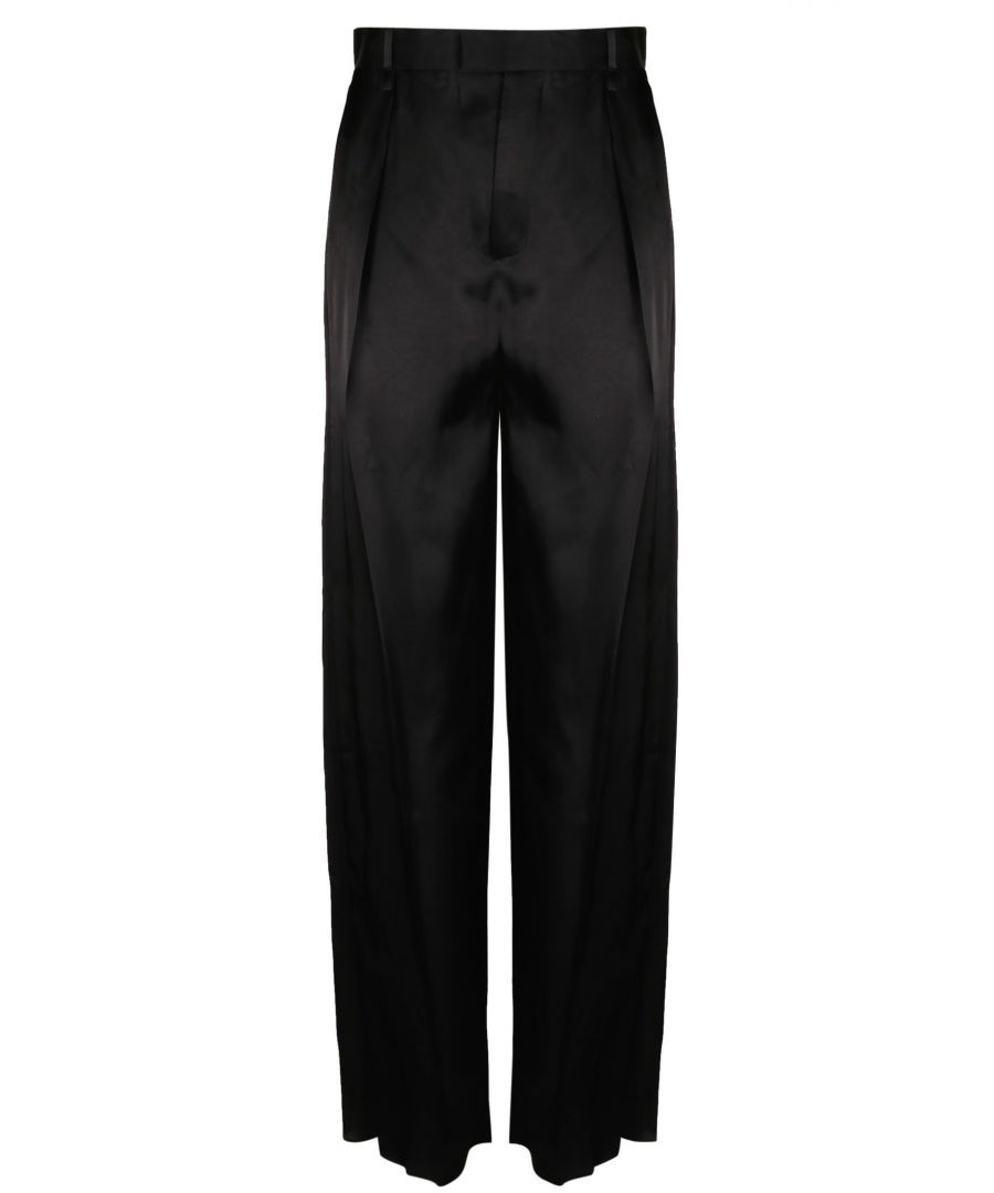 Image for BOTTEGA VENETA WOMEN'S 599730VKI101000 BLACK VISCOSE PANTS