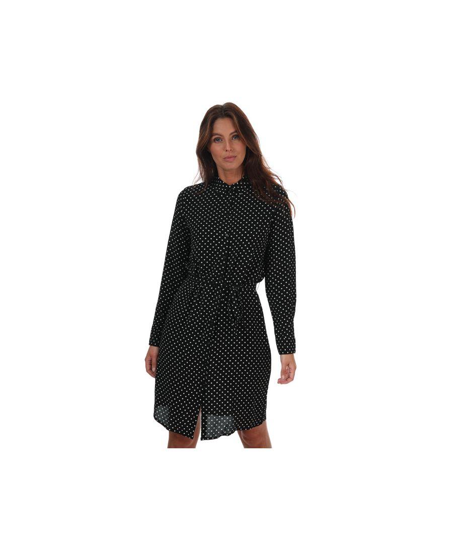 Image for Women's Vero Moda Saga Polka Dot Shirt Dress in Black