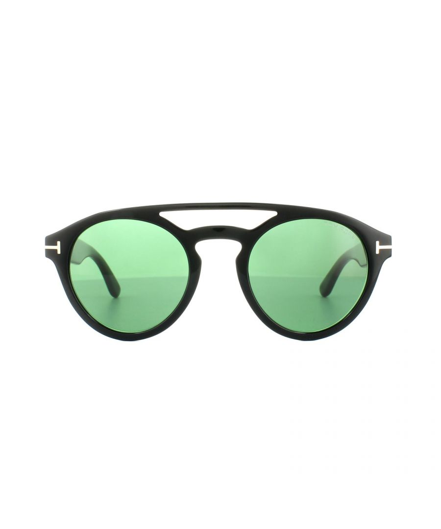 Image for Tom Ford Sunglasses 0537 Clint 01N Shiny Black Green
