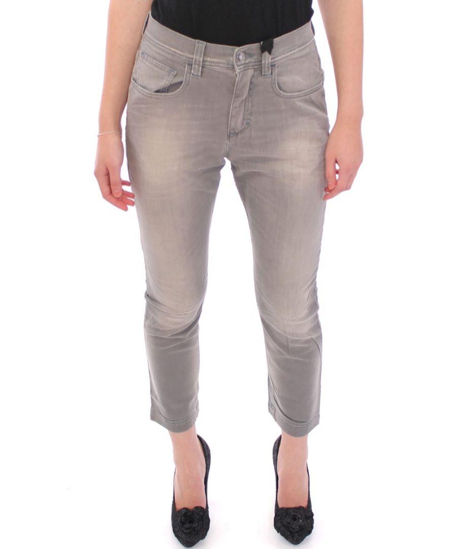 Image for Dolce & Gabbana Gray BOYISH Boyfriend Stretch Jeans