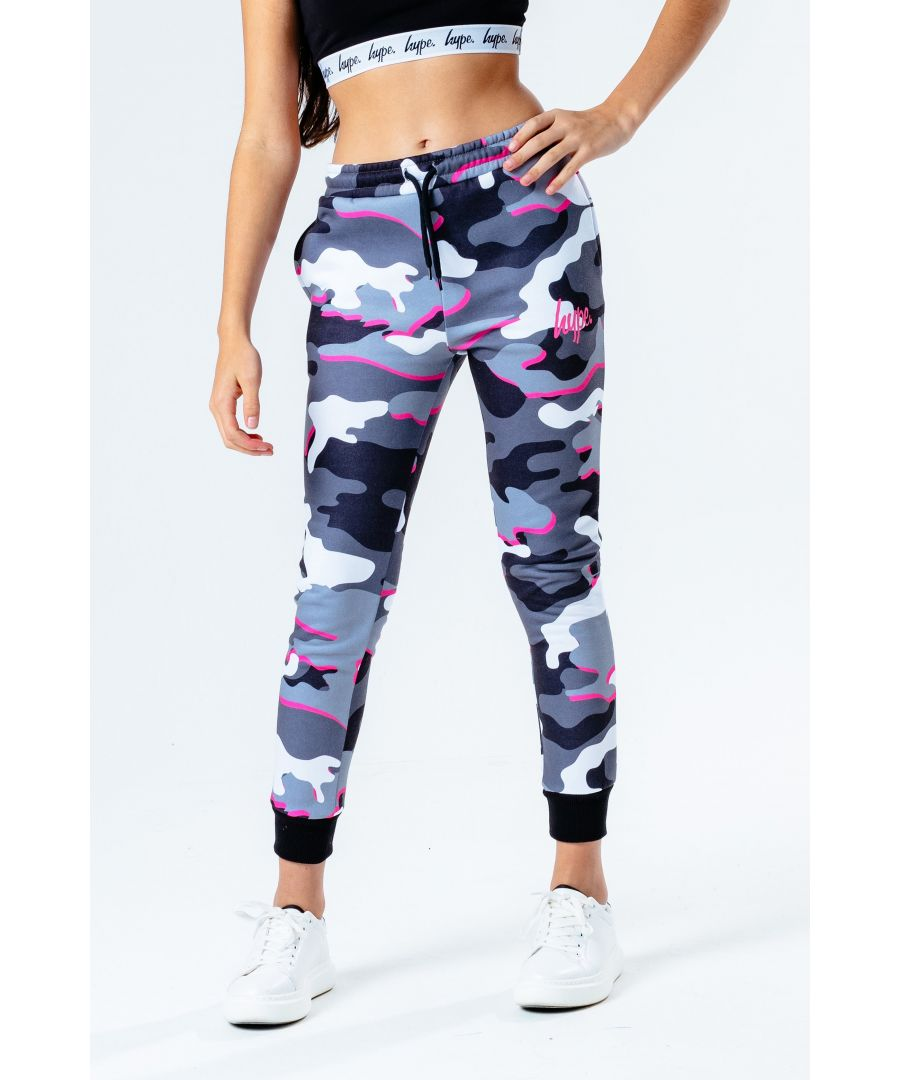 Image for Hype Pink Line Camo Kids Joggers
