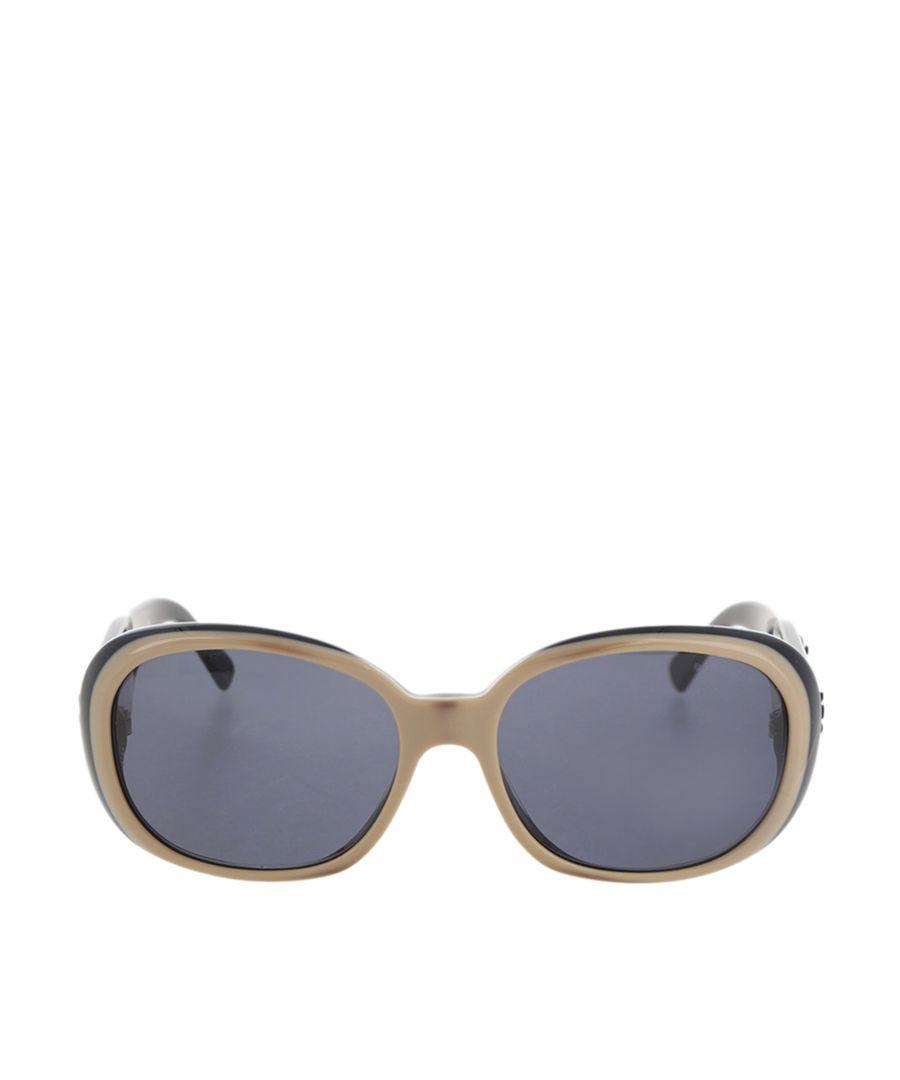 Image for Vintage Chanel Camellia Motif Coco Mark Sunglasses Brown