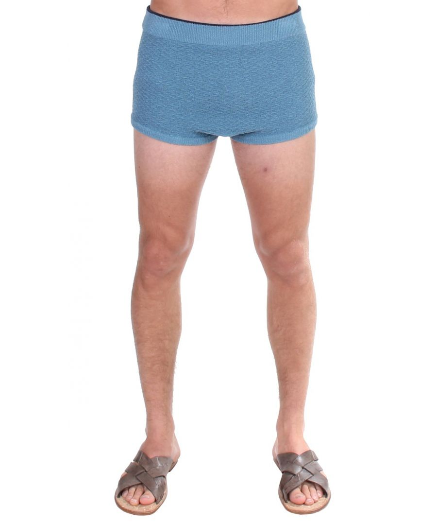 Image for Dolce & Gabbana Blue Cotten Blend Logo Casual Short Shorts
