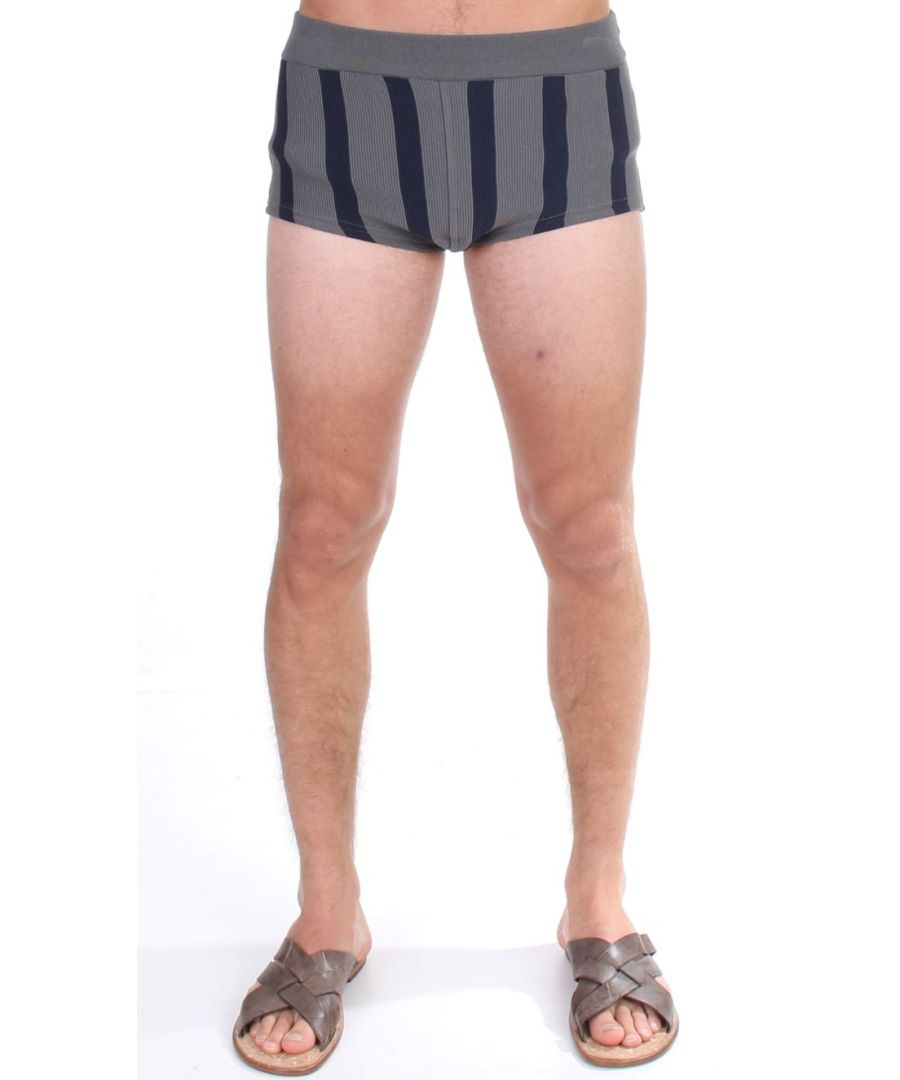 Image for Dolce & Gabbana Gray Cotten Blend Logo Casual Short Shorts