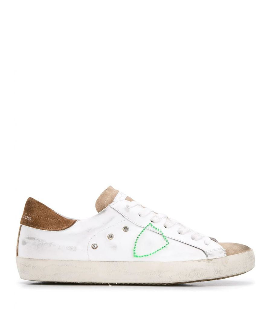 Image for PHILIPPE MODEL MEN'S CLLUXF09 WHITE LEATHER SNEAKERS