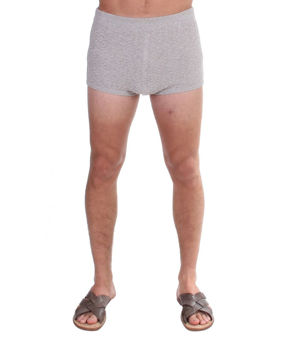 Image for Dolce & Gabbana Gray Cotten Logo Casual Short Shorts