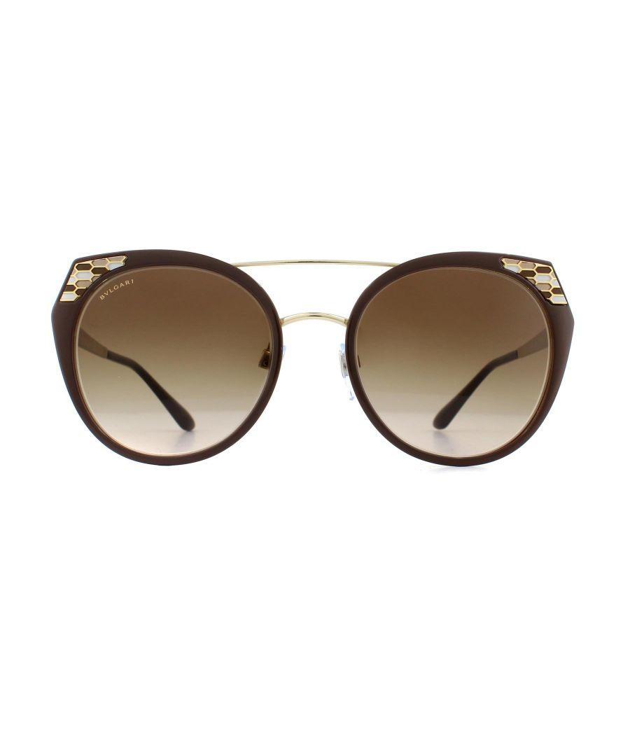 Image for Bvlgari Sunglasses BV6095 203013 Brown Pale Gold Brown Gradient