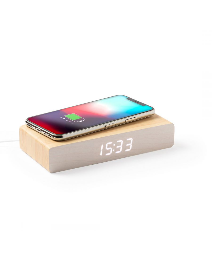 Image for Table clock with wireless charger DLX