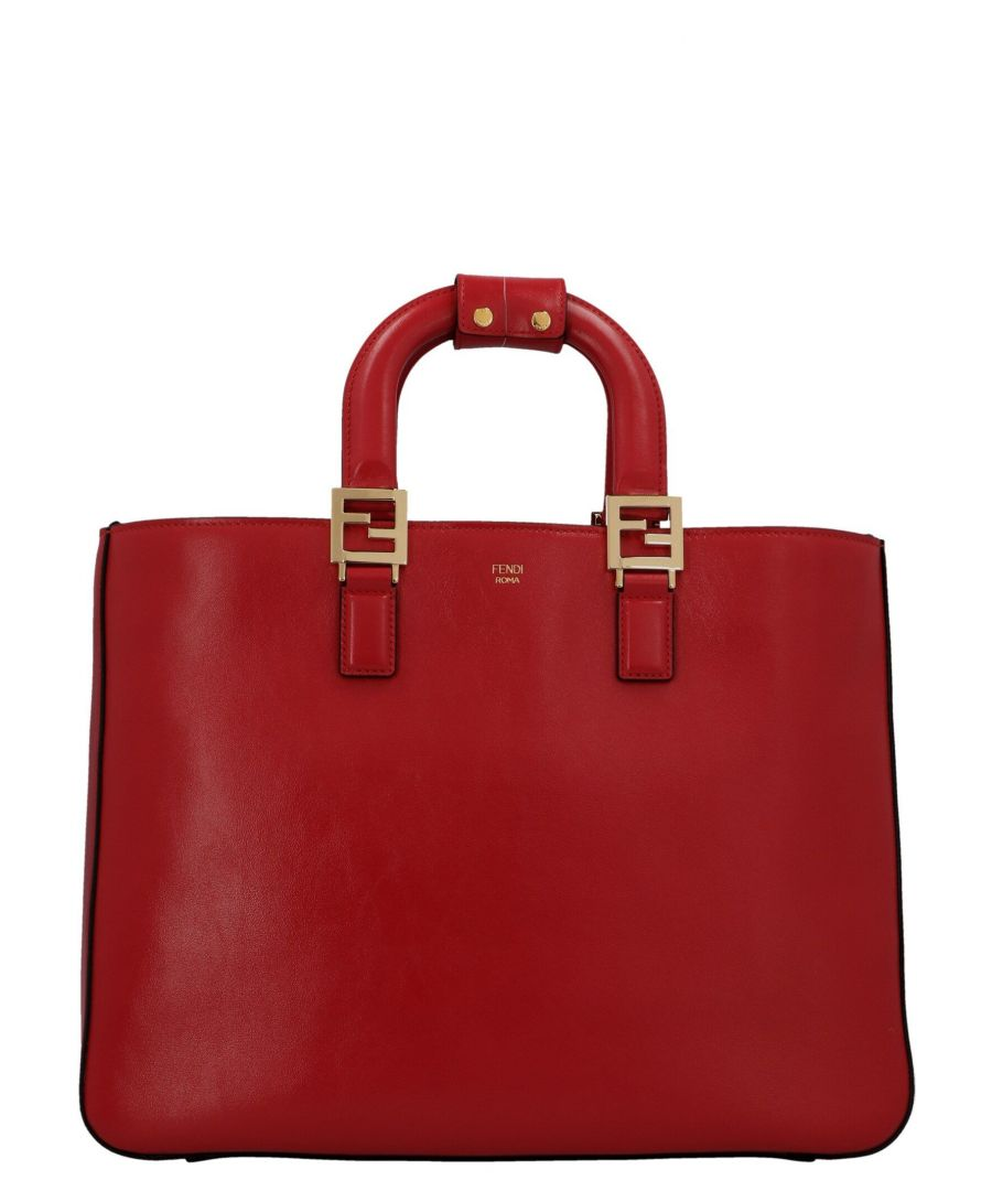 Image for FENDI WOMEN'S 8BH368A9Y0F19T8 RED LEATHER TOTE
