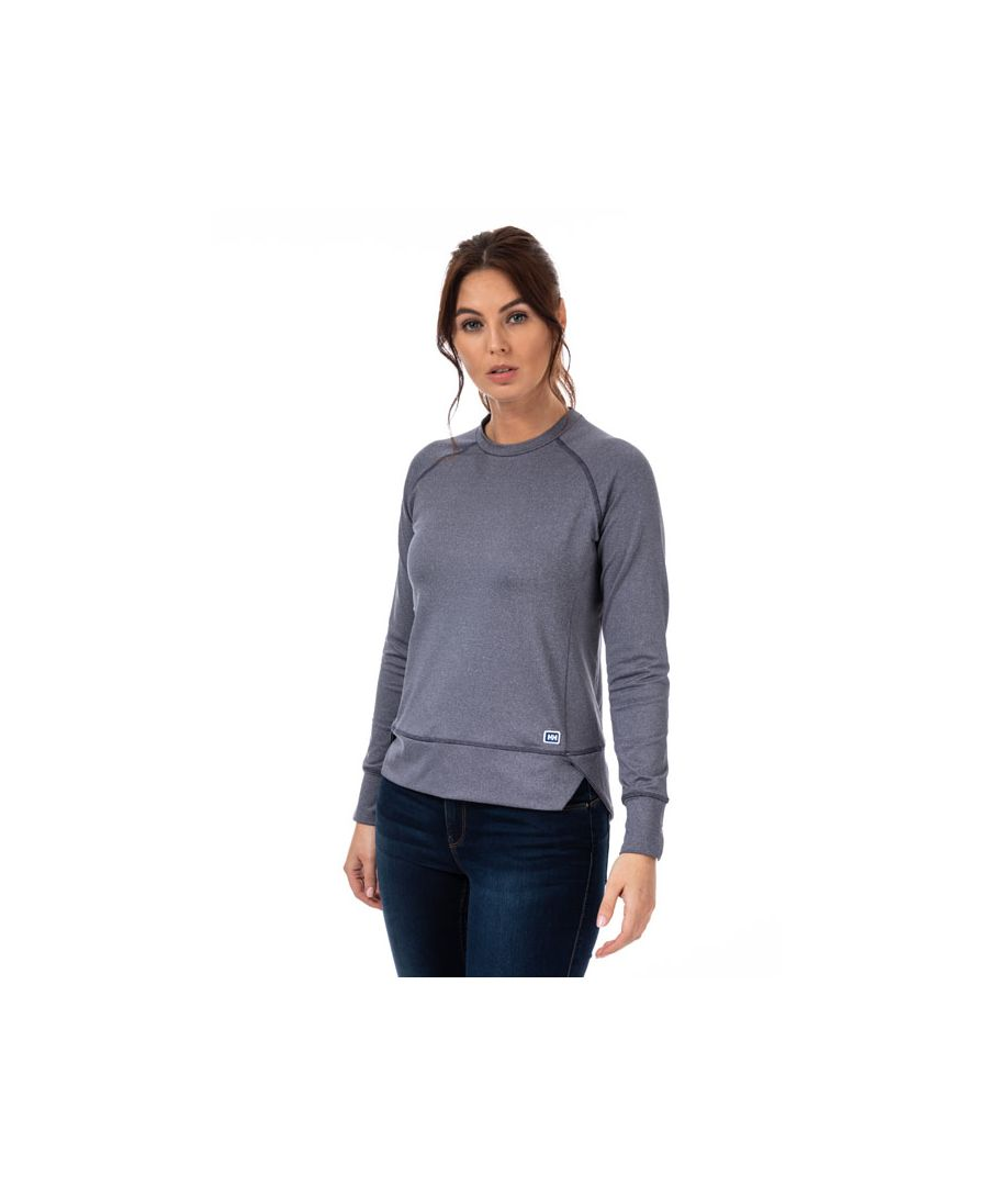 Image for Women's Helly Hansen Hyggen Long Sleeve Top in Charcoal