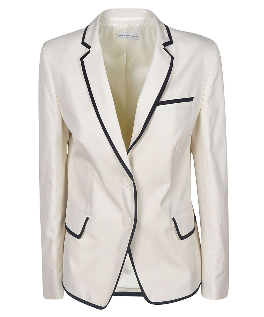 Image for DRIES VAN NOTEN WOMEN'S 104289022005 WHITE COTTON BLAZER