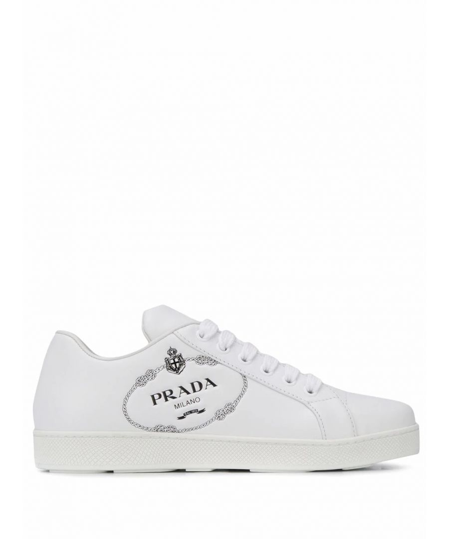 Image for PRADA WOMEN'S 1E950LF0053K92F0964 WHITE LEATHER SNEAKERS