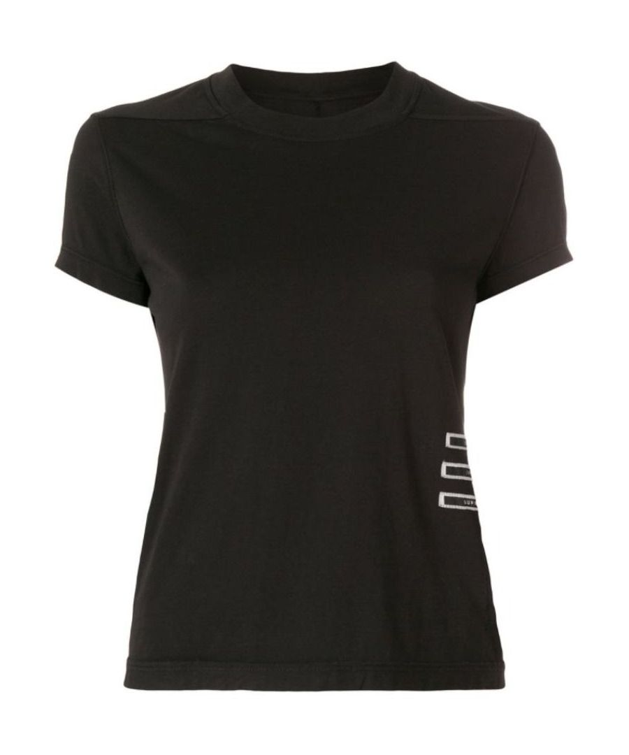 Image for DRKSHDW BY RICK OWENS WOMEN'S DS18S3208RNER309 BLACK COTTON T-SHIRT