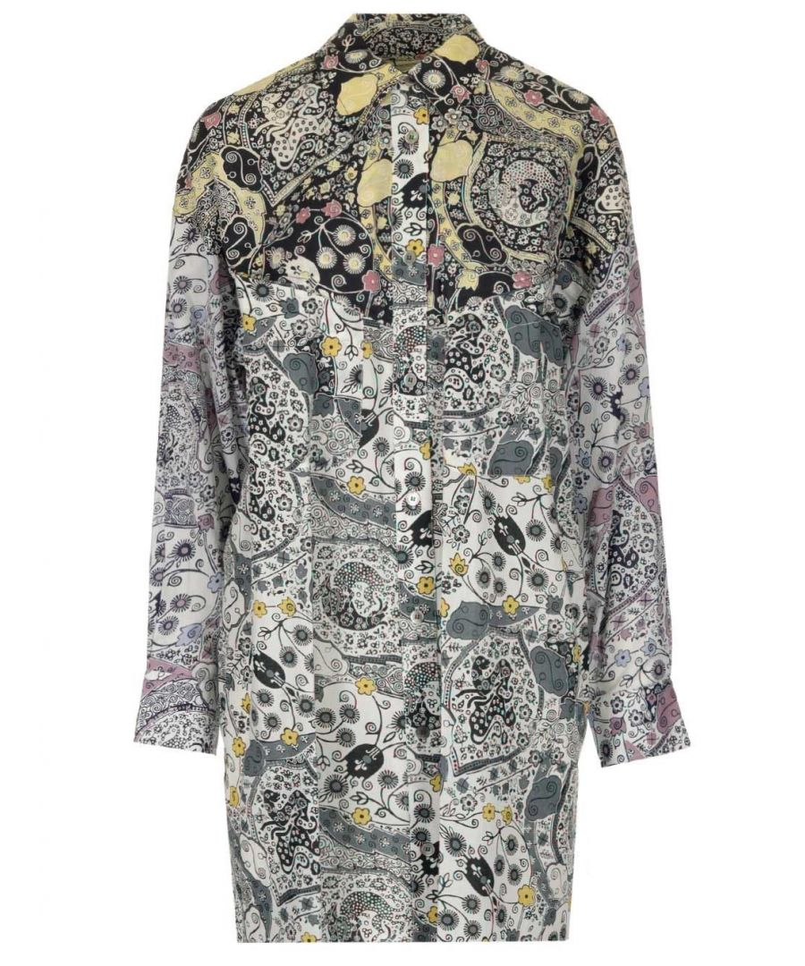 Image for ISABEL MARANT ÉTOILE WOMEN'S HT166820P026EECAL MULTICOLOR COTTON SHIRT