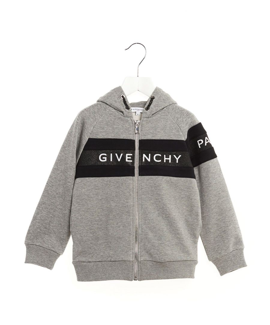 Image for GIVENCHY GIRLS H15117A47 GREY COTTON SWEATSHIRT