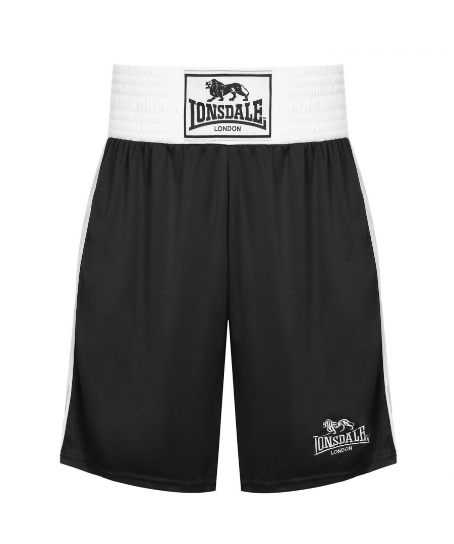 Image for Lonsdale Mens Box Short Wide Elasticated Waistband Training Boxing Gym Bottom