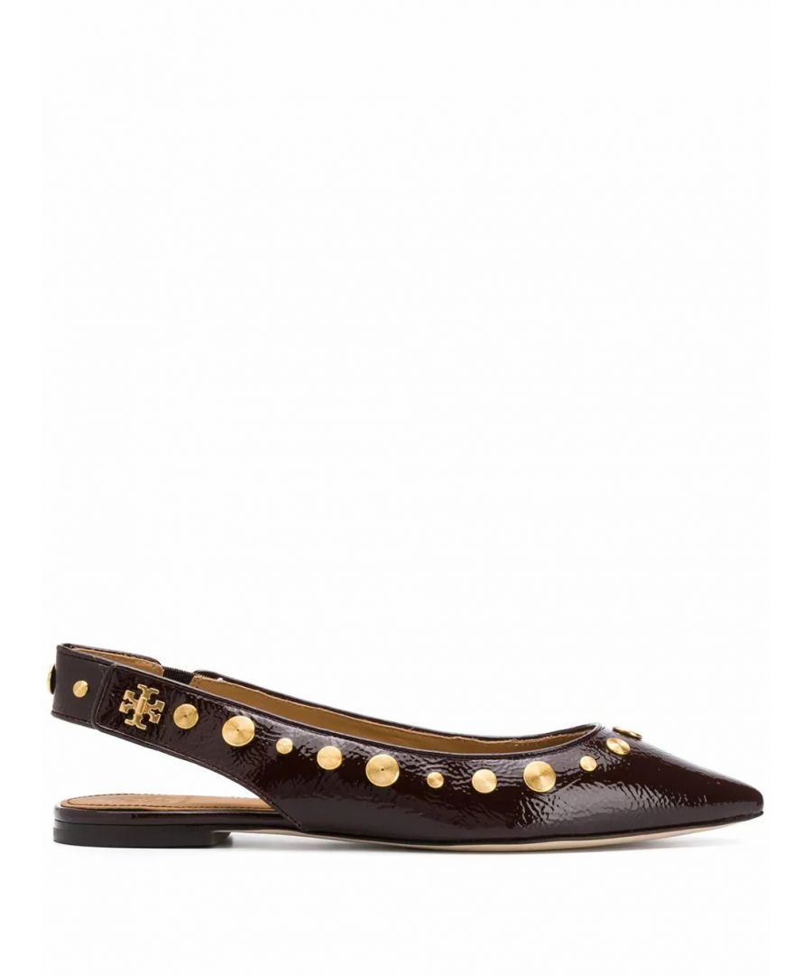 Image for TORY BURCH WOMEN'S 57516564 BROWN LEATHER FLATS