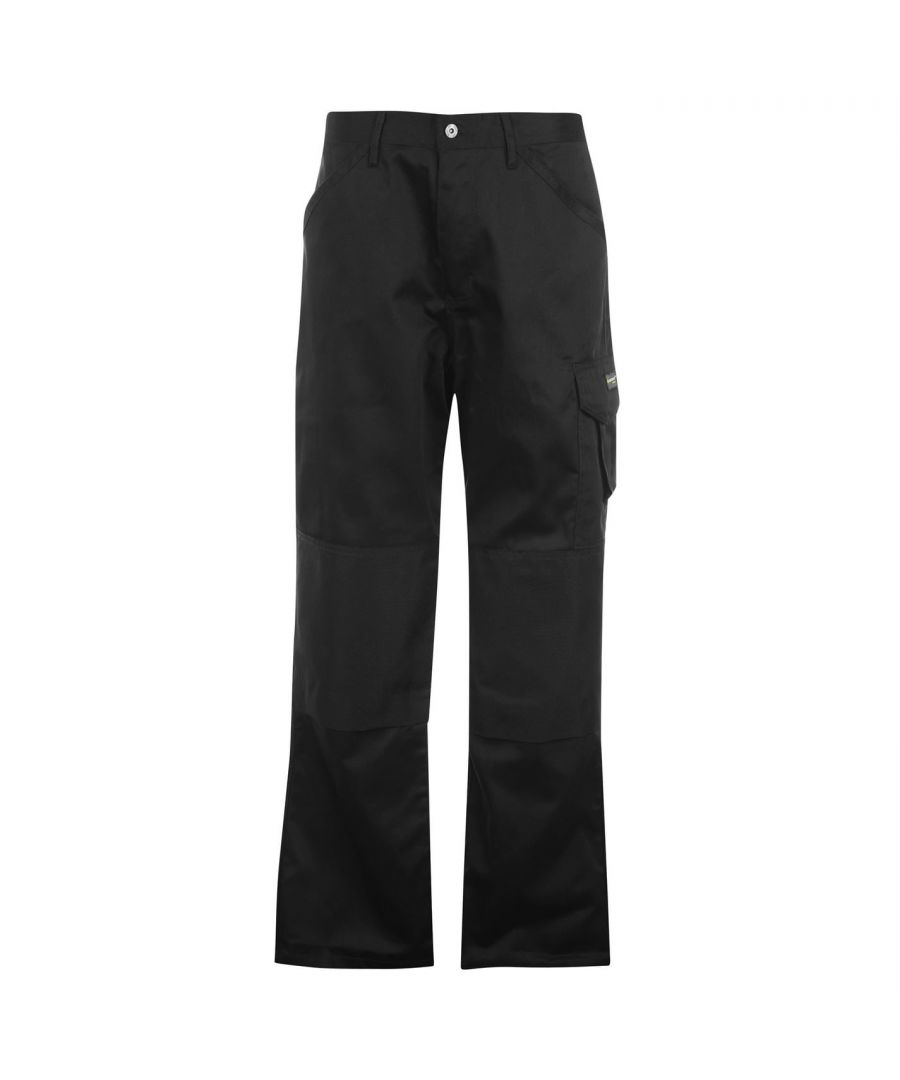 Image for Dunlop Mens Gents Work Trousers Pants Reinforced Pocket Beadings Bottom